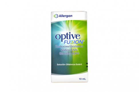 Optive Fusion Solución Oftálmica Estéril Caja Con Frasco Con 10 mL