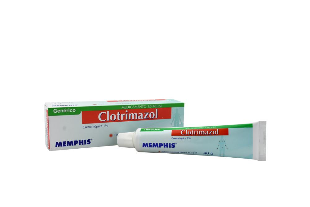 Clotrimazol Crema 1% Caja Con Tubo Con 40 g