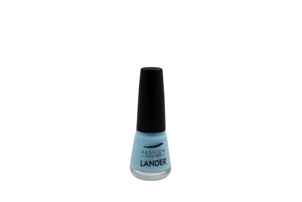 Esmalte Cremoso Lander Frasco Con 7 mL - Tono Azul  Claro 38C