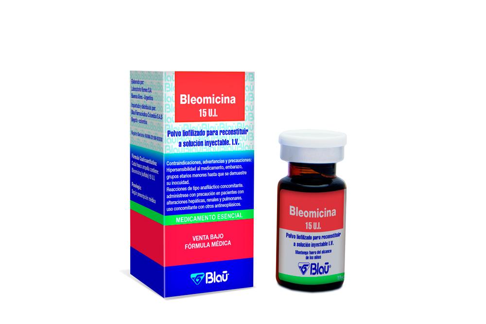 Bleomicina 15 UI Polvo Liofilizado Para Inyección Caja Con 1 Vial Rx3