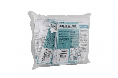 Tapabocas Respirador N95 Alfa Safe Blanco Bolsa Con 10 Unidades