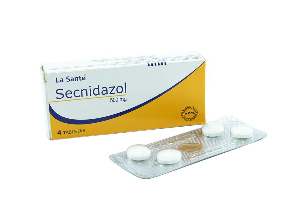 Secnidazol 500 mg Caja Con 4 Tabletas Rx