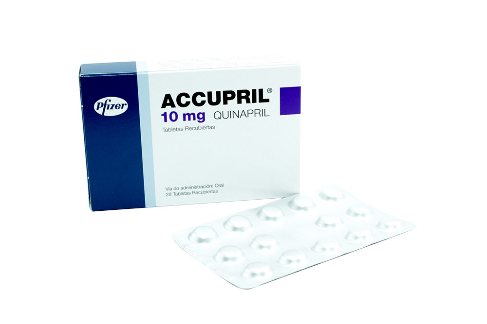 Accupril 10 mg Caja Con 28 Tabletas Recubiertas Rx4