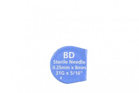 "Aguja Estéril Para Pen BD 31G x 5/16"" Ultra Fine Empaque Con 1 Unidad"