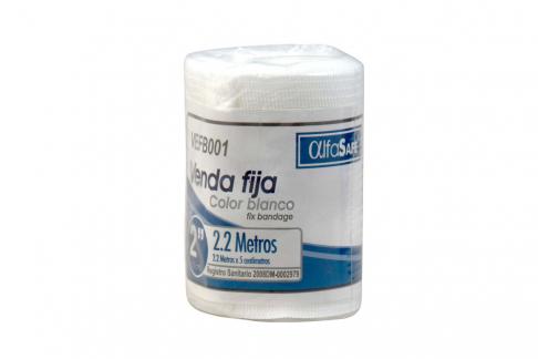 """Venda Fija Color Blanco Alfasafe 2"""" x 2.2 Metros Empaque Con 1 Unidad"""