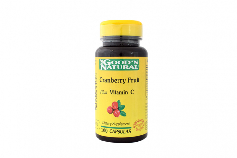 Cranberry Fruit Plus Vitamin C Good´n Natural Frasco Con 100 Cápsulas Blandas
