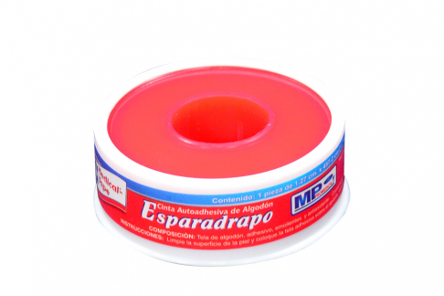 """Esparadrapo Medical Tape ½"""" x 5 Yardas Estuche Con 1 Unidad"""