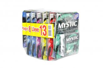 Preservativos Mystic Comdoms Surtidos Caja 13 Unidades