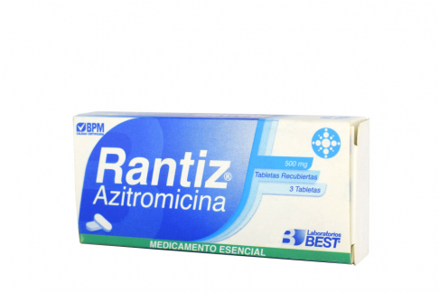 Rantiz 500 mg Caja Con 3 Tabletas Recubiertas Rx2