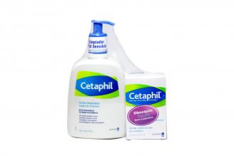 Cetaphil Limpiador Sensible Empaque Con Frasco Con 473 mL + Barra Limpiadora Con 127 g