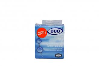 Condones Duo Lubricado Caja Con 3 Unidades