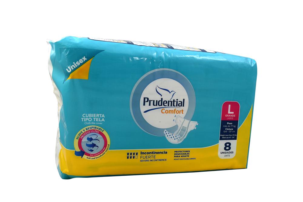 Prudential Comfort Empaque Con 8 Unidades - Talla L