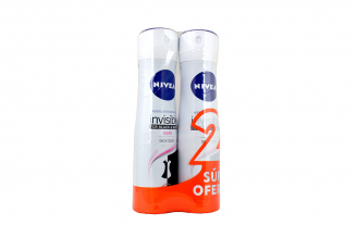 Nivea Invisible Clear Aerosol Antitranspirante Empaque Con 2 Frascos Con 150 mL