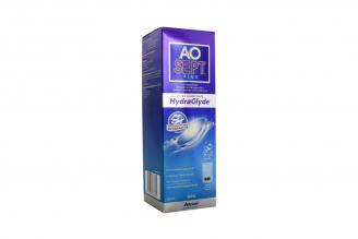 AoSept Plus con Hydraglyde Solución Limpieza de Lentes Caja Con Frasco Con 360 mL