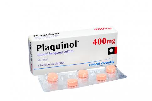 Plaquinol 400 mg Caja Con 5 Tabletas Recubiertas Rx