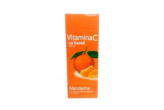 Vitamina C Caja Con 10 Tiras De Tabletas Masticables C/U - Sabor Mandarina