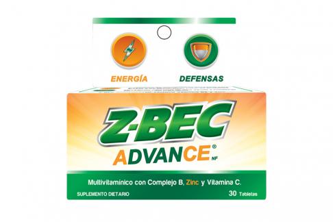 Z Bec Advance Caja Con Frasco Con 30 Tabletas