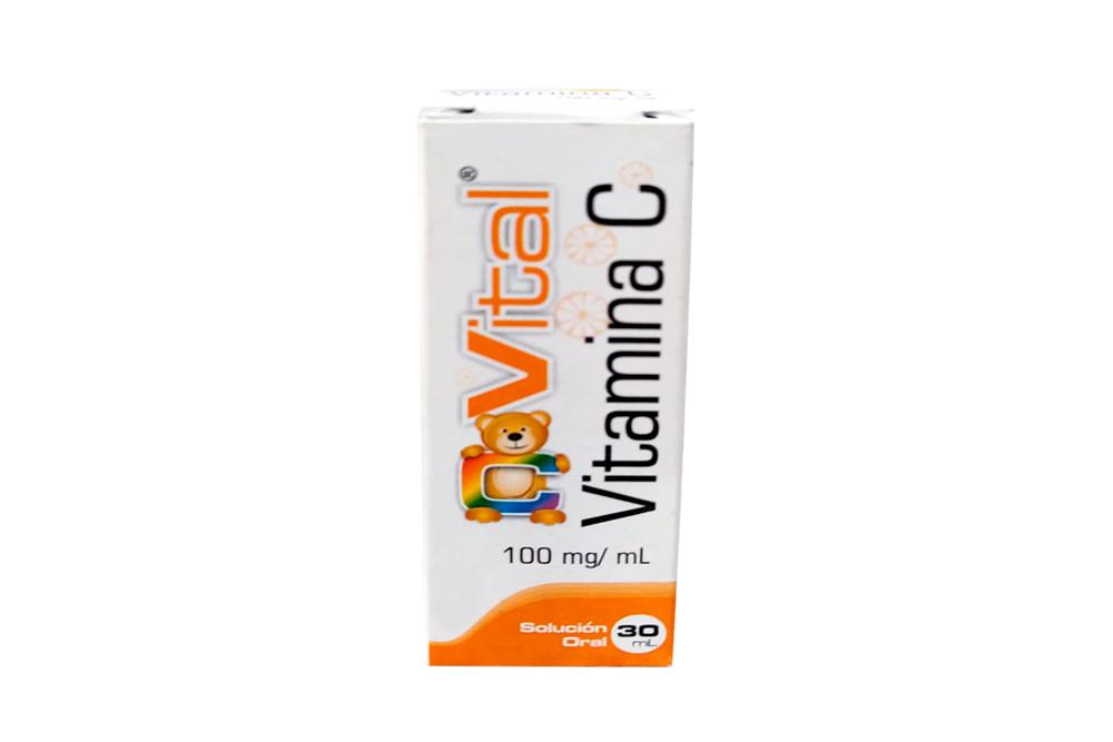 Vital Vitamina C Solución Oral Caja Con Frasco Con 30 mL