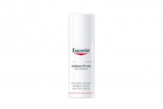 Eucerin Fluido Facial Hidratación Matificante Caja Con Frasco Con 50 mL