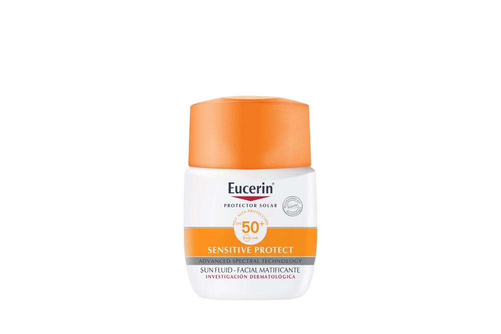 Eucerin Sun Fluid Facial Matificante Caja Con Frasco Con 50 mL