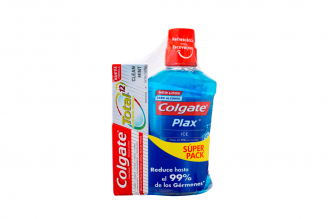 Enjuague Bucal Colgate Plax Ice Frasco Con 500 mL + Gratis Crema Dental Clean Mint Con 75 mL