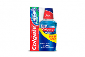 Súper Pack Colgate Crema Con 50 mL + Enjuague Bucal Frasco Con 250 mL