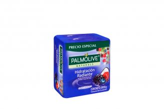 Jabón Cremoso Palmolive Frutos Del Bosque Y Agua De Coco Empaque Con 3 Unidades Con 120 g C/U