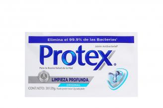 Jabón Antibacterial Protex Limpieza Profunda Paquete Con 3 Barras Con 130 g C/U