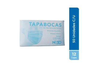 Tapabocas De Protección Facial 12 Cajas Con 50 Unidades C/U