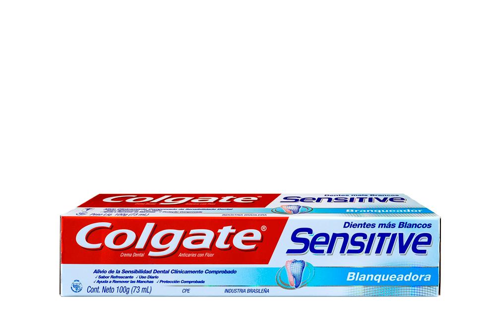 Crema Dental Colgate Sensitive Blanqueadora Caja Con Tubo Con 100 g