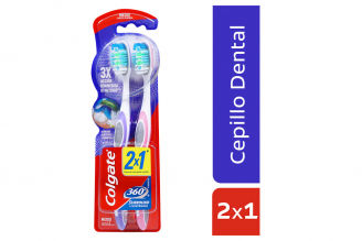 Cepillo Dental Colgate 360 Surround Empaque Con 2 unidades