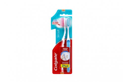 Cepillo Dental Colgate Slim Soft Empaque Con 2 Unidades