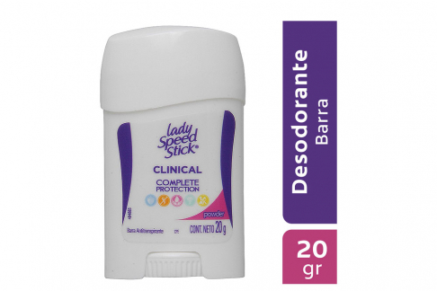 Desodorante Lady Speed Stick Clinical Complete Protection Barra Con 20 g