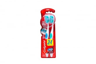 Cepillo Dental Colgate 360 Luminous White Empaque Con 2 Unidades