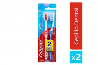 Cepillo Dental Extra Clean Cerdas Firmes Empaque Con 2 Unidades