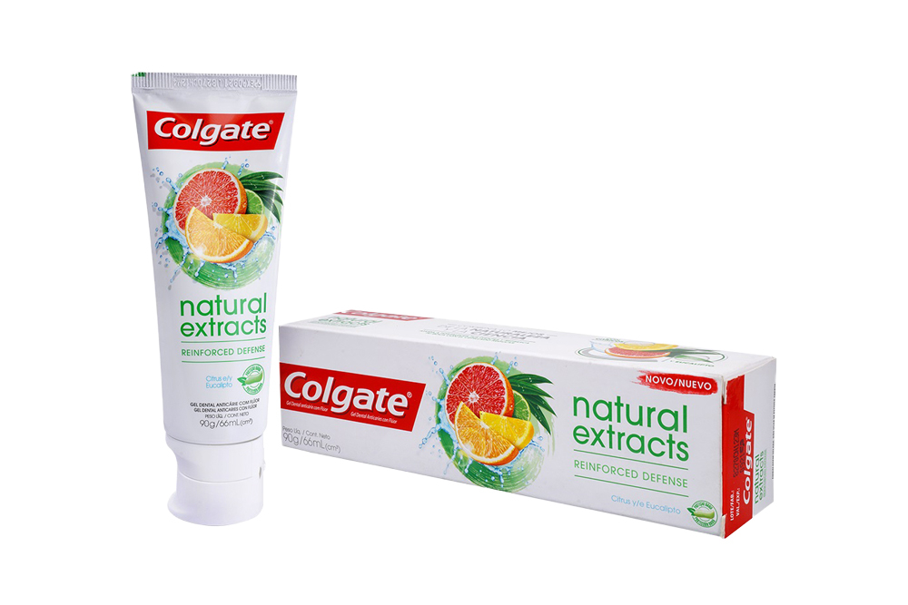Crema Dental Colgate Natural Extracts Reinforced Defence Caja Con Tubo Con 90 g