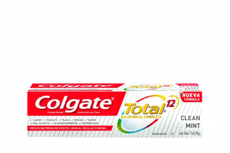 Crema Dental Colgate Total 12 Clean Mint Caja Con Tubo Con 75 mL