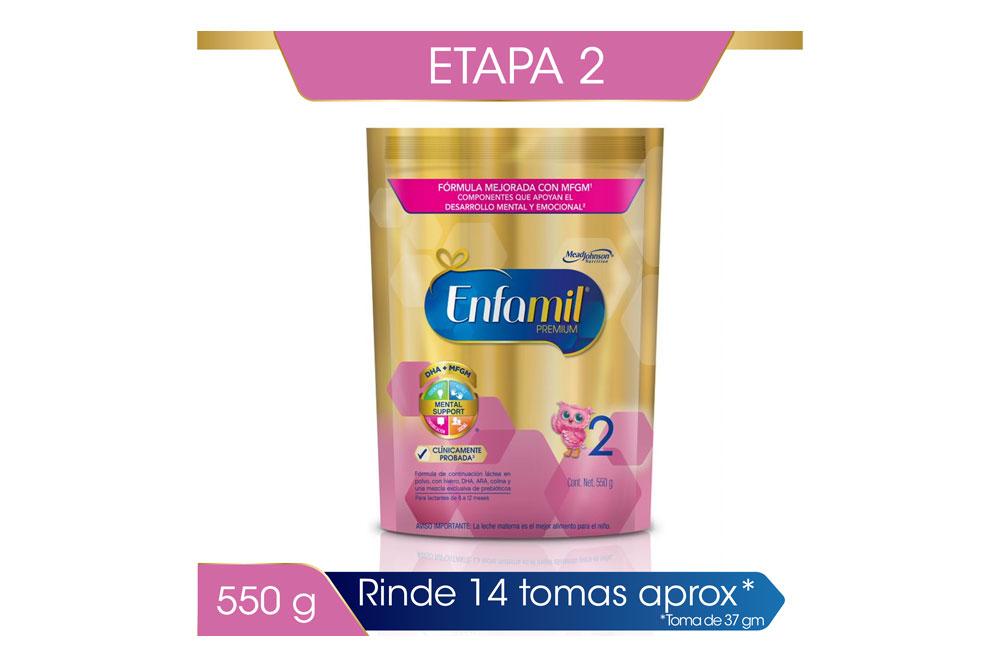Enfamil Premium 2 Bolsa Con 550 g