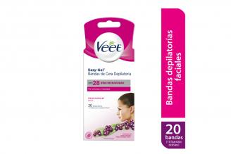 Veet Bandas De Cera Fría Facial - Piel Normal Caja Con 10 Bandas Dobles