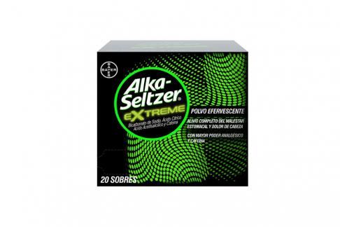 Alka-Seltzer Extreme Caja Con 20 Sobres Efervescentes