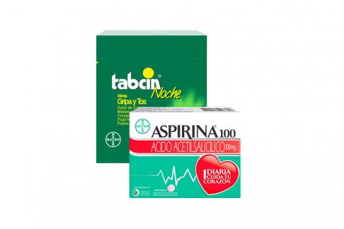 Tabcin Noche Caja Con 60 Tabletas + Aspirina 100 Caja Con 140 Tabletas