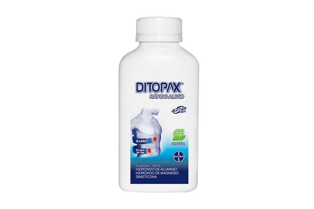 Ditopax Suspensión Sin Azúcar Frasco Con 360 mL – Sabor Menta Vainilla