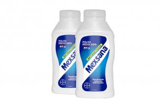 Talco Medicado Mexsana Frasco Con 85 g + Frasco Con 85 g