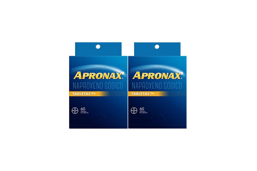 Apronax 550 mg Empaque Con 2 Cajas Con 60 Tabletas C/U
