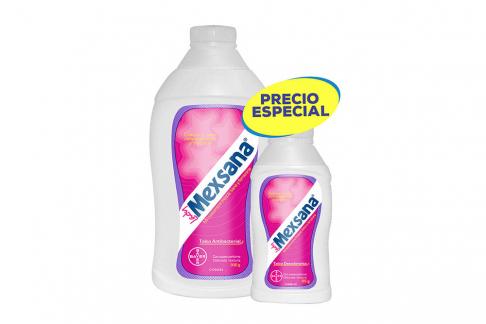 Talco Medicinal Lady Mexsana Frasco Con 300 g + Frasco Con 85 g