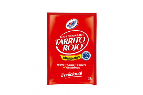 Kola Granulada JGB Tarrito Rojo Sabor Tradicional Caja con 6 Sobres De 25 g C/U