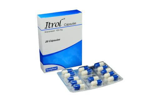 Itrol 100 mg Caja Con 28 Cápsulas Rx