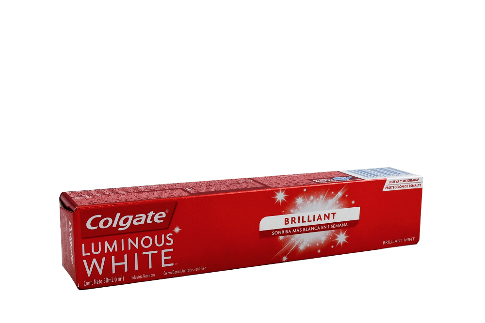 Crema Dental Colgate Luminous White Brilliant Tubo Con 50 mL