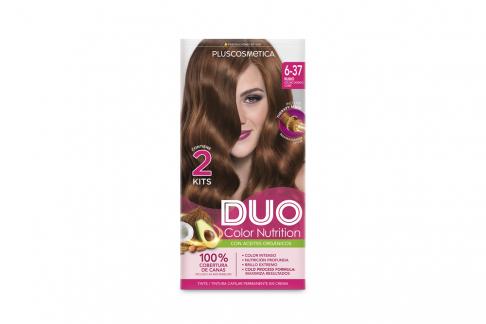 Tinte Capilar Duo Color Nutrition Tono 6.37 Rubio Oscuro Dorado Cobre Caja Con 1 Kit