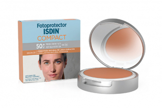 Polvo Compacto Fotoprotector Isdin Bronce Spf50 Caja Con Estuche Con 10 g